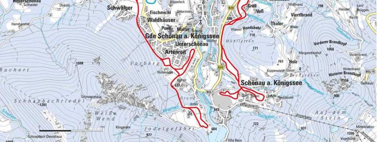 Trail Map Schönau at Königssee