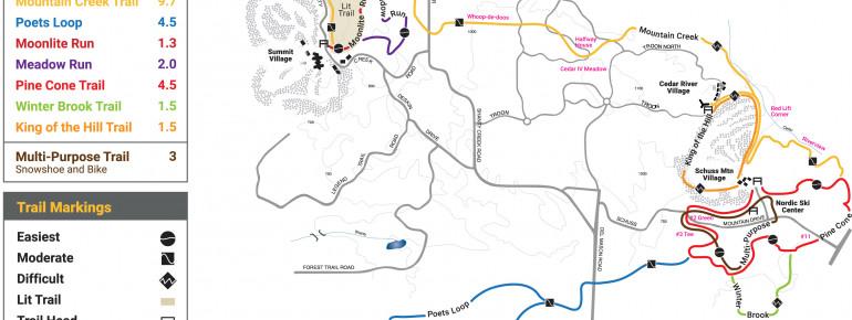 Loipenplan Shanty Creek Resort