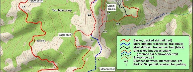 Loipenplan Silver Mountain Resort