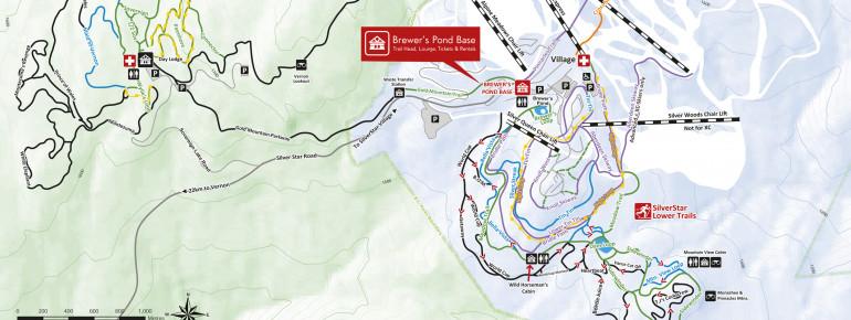 Trail Map Silver Star Mountain Resort