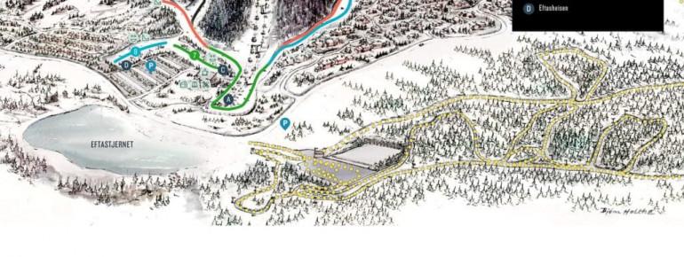 Trail Map Sjusjoen