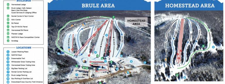 Loipenplan Ski Brule