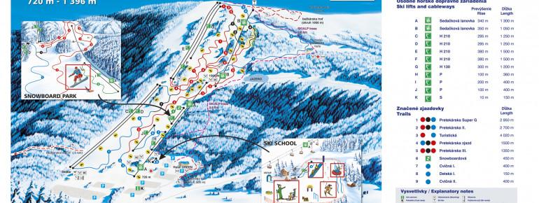 Trail Map SKI PARK Kubinska hola