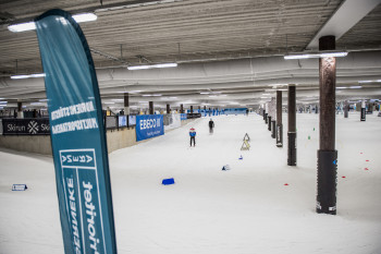 Im Skidome gibt es nur leichte Anstiege.
