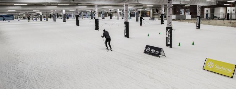 Loipenplan Skihalle Skidome Göteborg