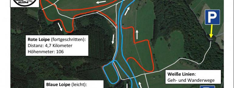 Loipenplan Skilanglaufzentrum Emmerzhausen (Westerwald)