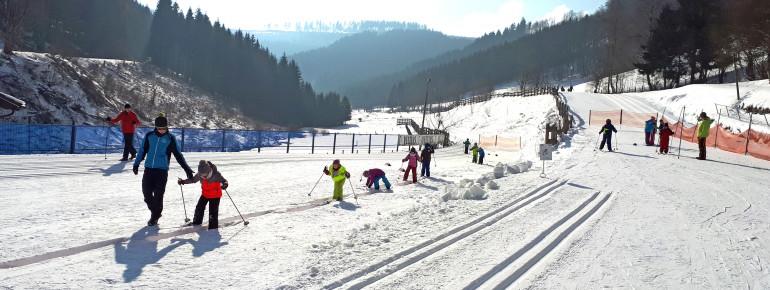 Im Langlaufzentrum Westfeld gibt es einen Kinderparcours.
