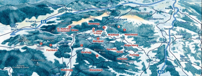 Loipenplan Joglland - Waldheimat