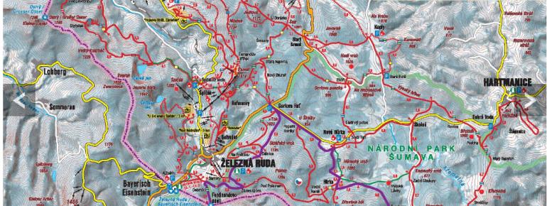 Loipenplan Spicak (Spitzberg) - Zelezna Ruda (Markt Eisenstein)