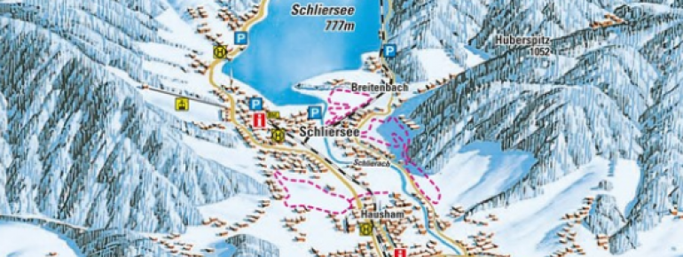 Loipenplan Schliersee - Spitzingsee