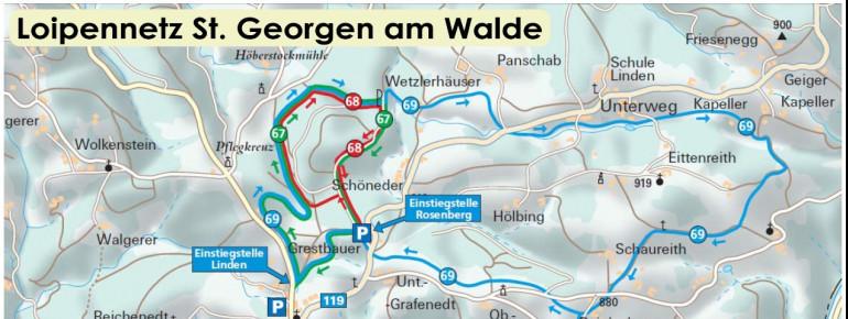 Trail Map St Georgen am Walde