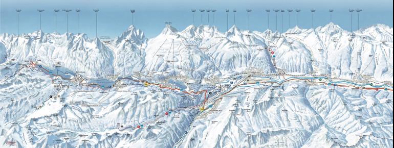 Trail Map St. Moritz - Engadin