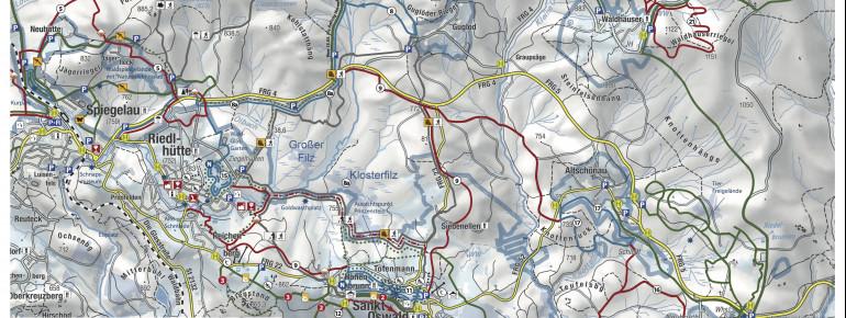 Loipenplan St Oswald Riedlhütte