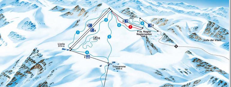 Trail Map Stelvio Glacier