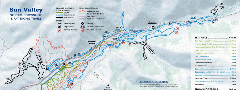 Trail Map Sun Valley Nordic Center
