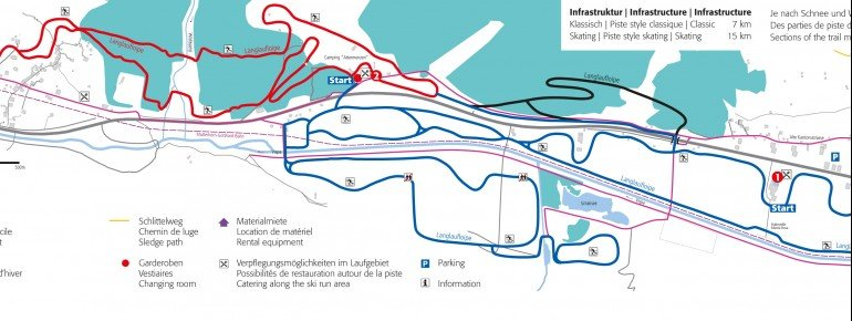 Loipenplan Täsch Randa – Loipe Matterhorn/Zermatt