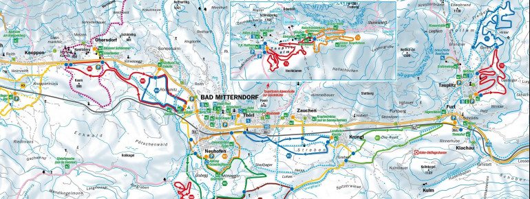 Loipenplan Bad Mitterndorf - Pichl - Tauplitz - Tauplitzalm
