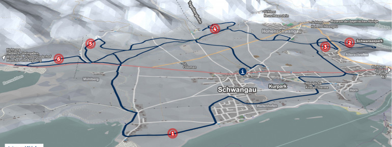 Loipenplan Schwangau - Tegelberg