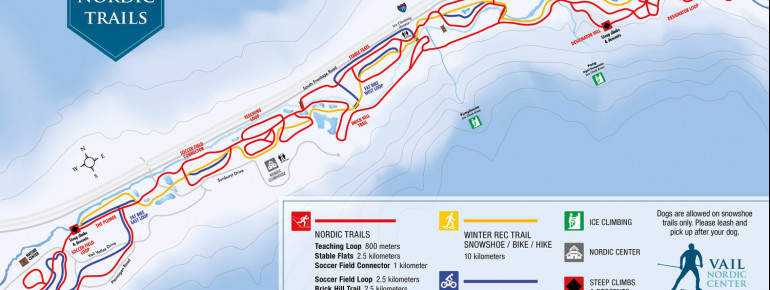 Trail Map Vail Nordic Center