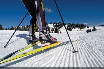 Both classic and skating techniques can be used on the trails in Val die Fiemme.
