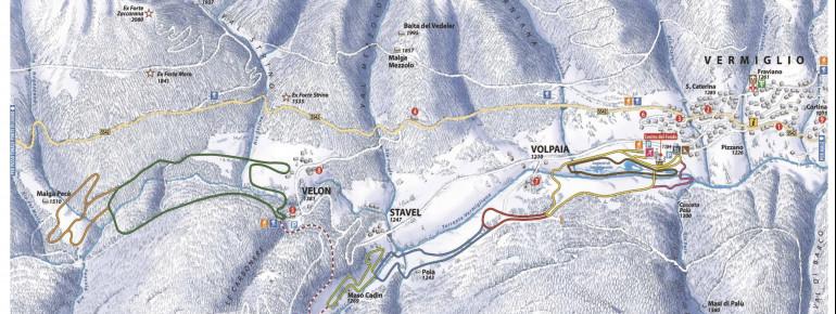 Trail Map Passo Tonale - Ponte di Legno - Vermiglio