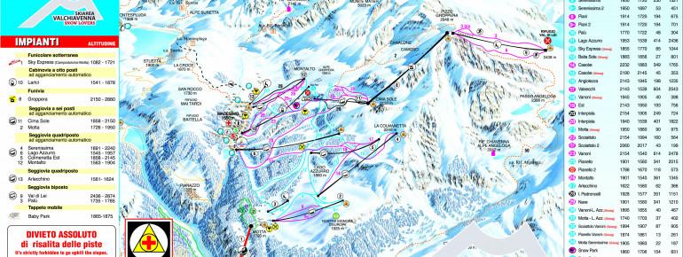 Trail Map Valchiavenna