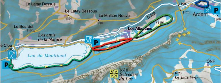 Loipenplan Vallée d'Aulps Montriond