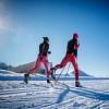 Langlaufen bei herrlichen Bedingungen im Nordic Aktiv Zentrum Oberer Bayerischer Wald/Böhmischer Wald.