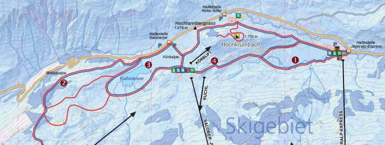 Trail Map Warth-Schröcken