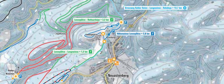 Loipenplan Neuastenberg - Lenneplätze