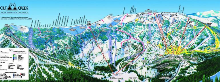 Loipenplan Wolf Creek Ski Area