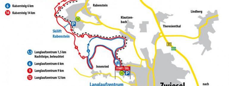 Loipenplan Langlaufzentrum Zwiesel