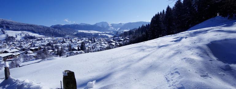 Oberstaufen im Winterkleid