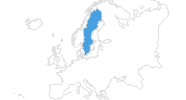 map of all ski resorts in Sweden