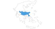 Karte der Skigebiete in Mittelgriechenland