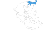 map of all ski resorts in East Macedonia and Thrace