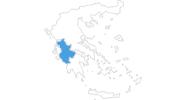 Karte der Skigebiete in Westgriechenland