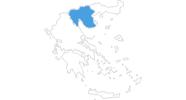 Karte der Skigebiete in Zentralmakedonien