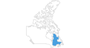 map of all ski resorts in Quebec