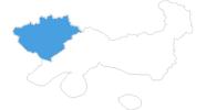 Karte der Skigebiete in Drama
