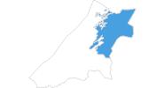 Karte der Skigebiete in Nord-Tröndelag