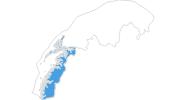 Karte der Skigebiete in Nordland