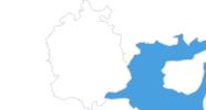 Karte der Skigebiete in St. Gallen