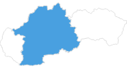 map of all ski resorts in Central Slovakia