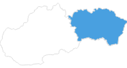 map of all ski resorts in Eastern Slovakia