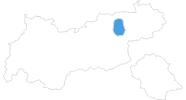 Karte der Skigebiete im Ski Juwel Alpbachtal Wildschönau