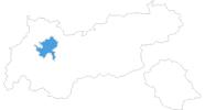 Karte der Skigebiete in der Ferienregion Imst
