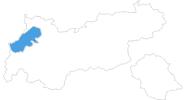 Karte der Skigebiete im Lechtal