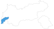 map of all ski resorts in Paznaun - Ischgl