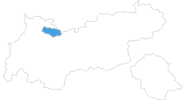 map of all ski resorts in the Tyrolean Zugspitz Arena